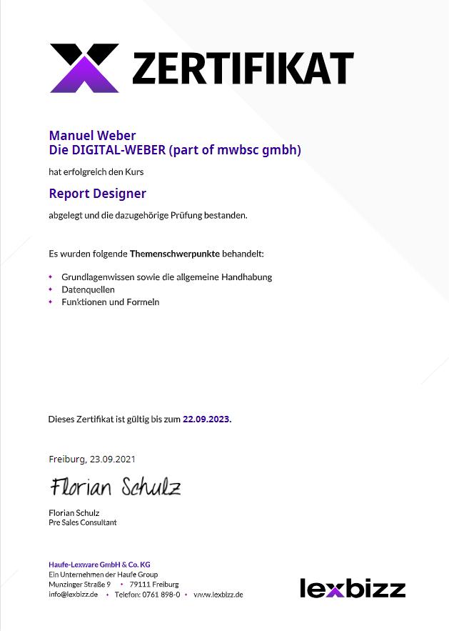 lexbizz: Report Designer