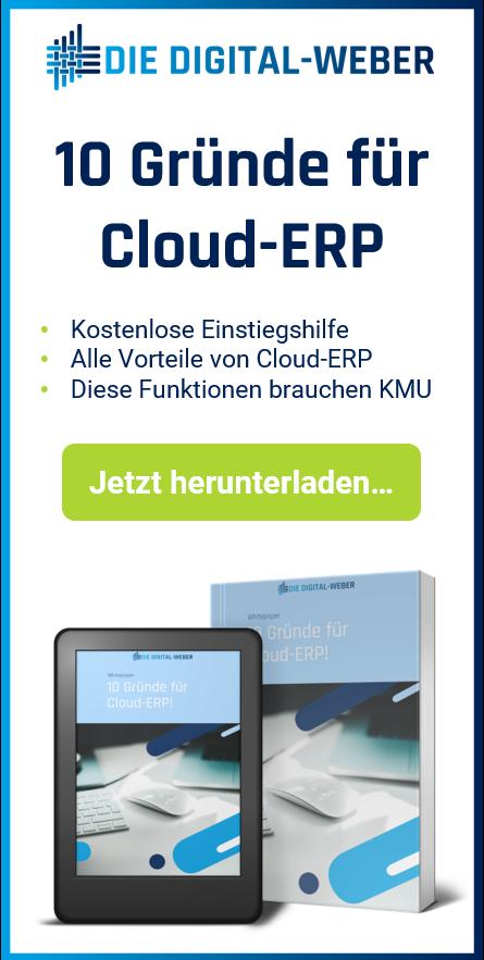 Whitepaper-Angebot: 10 Gründe für Cloud ERP