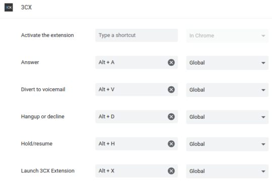 3CX Browser-Erweiterung