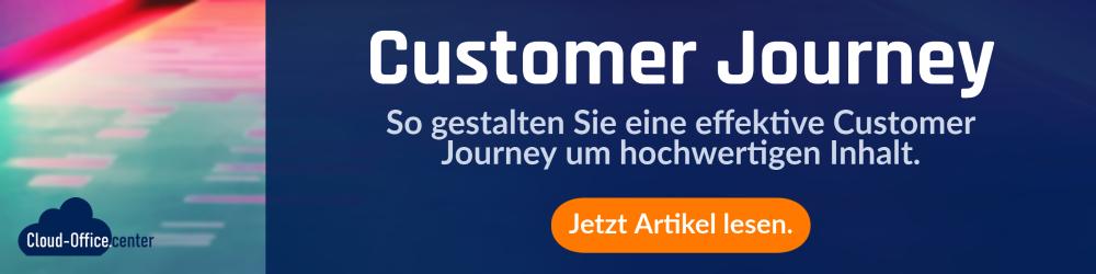 Unsere Dienstleistungen: Wir entwickeln eine effektive Customer Journey