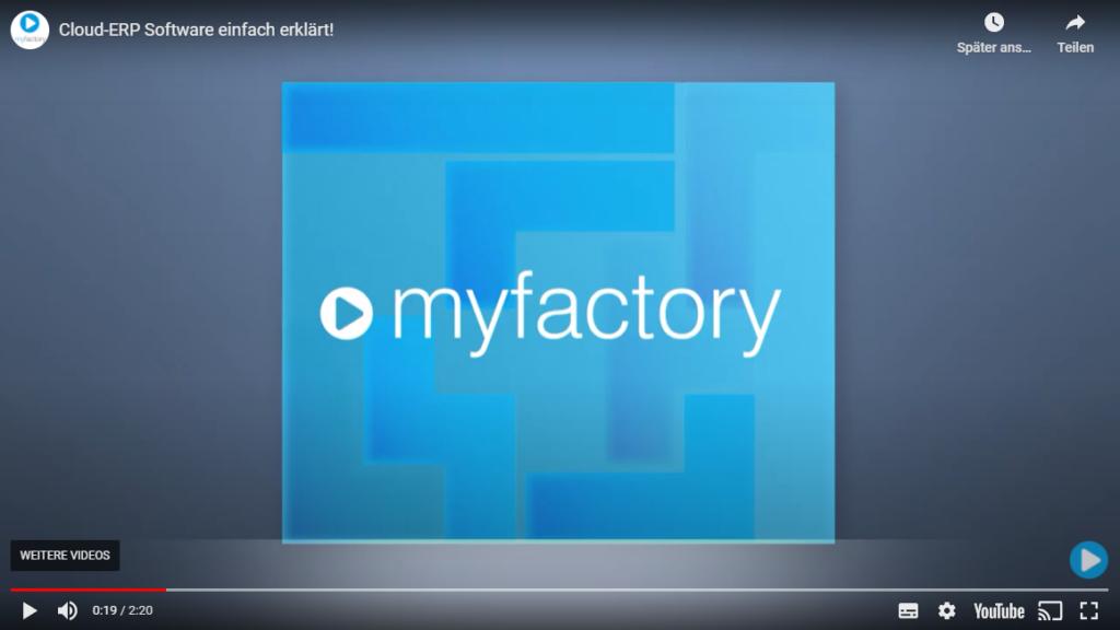 myfactory Cloud ERP